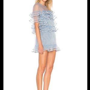 Tularosa Wyatt Overlay Ruffle Mini Dress Size XS